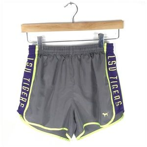 PINK Victoria's Secret Shorts - PINK Victoria's Secret LSU Tigers Running Shorts
